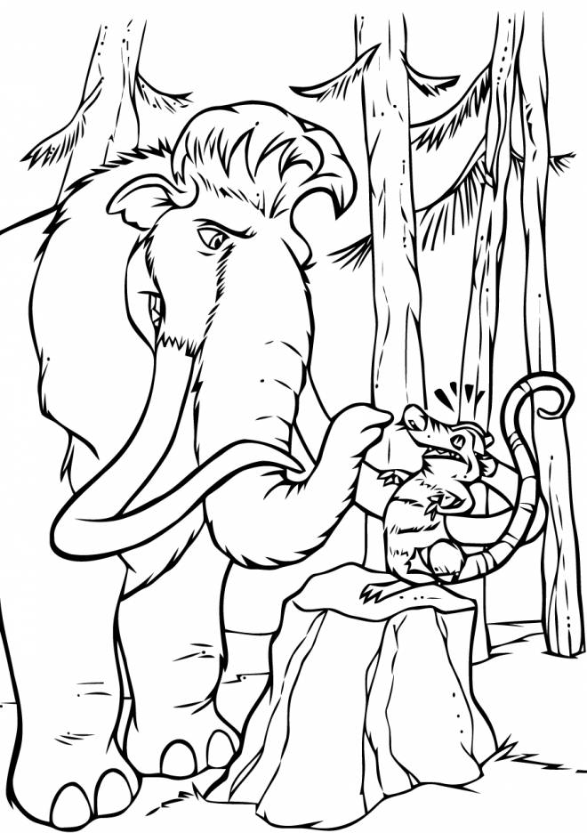 Free coloring and drawings Manny and Crash Coloring page