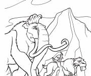 Coloring pages Manny, Sid and Diego