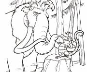 Coloring pages Manny speaks with Crash