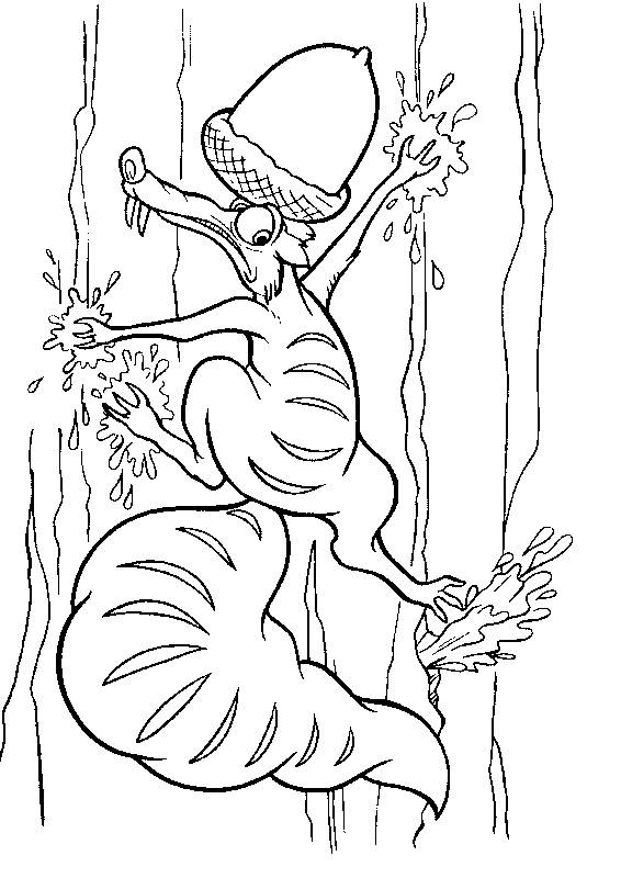 Free coloring and drawings Scrat may fall Coloring page