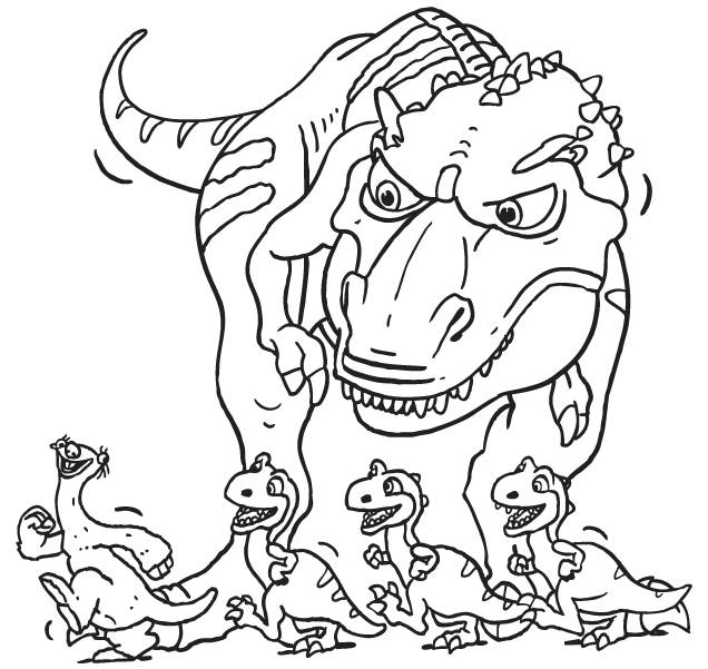 Free coloring and drawings Sid and the dinosaurs Coloring page