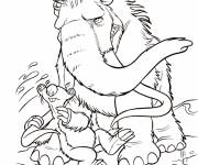 Free coloring and drawings Sid squeezes Manny Coloring page