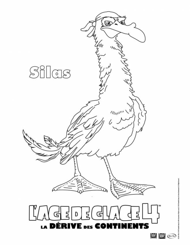Free coloring and drawings Silas: Ice Age Coloring page
