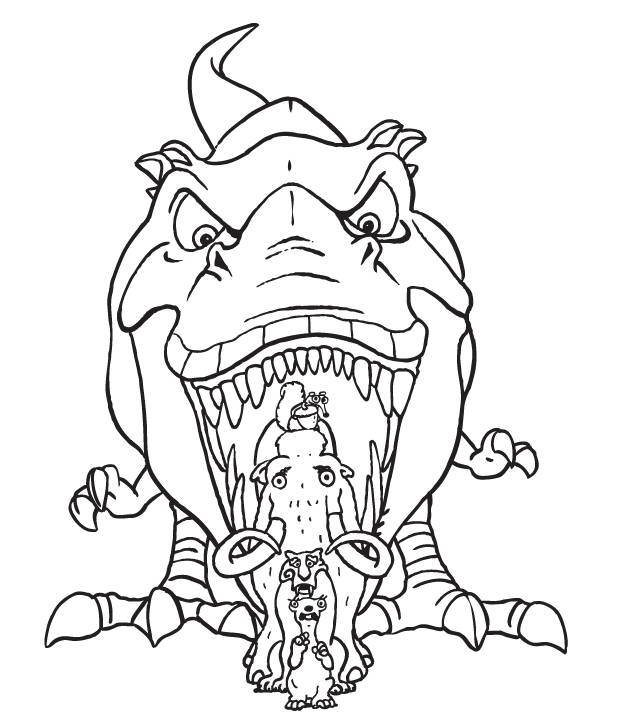 Free coloring and drawings The dinosaur: Ice Age Coloring page