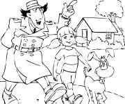 Coloring pages Inspector Gadget