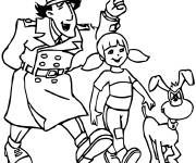 Coloring pages Inspector Gadget cartoon