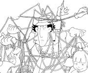 Coloring pages Inspector Gadget is stuck