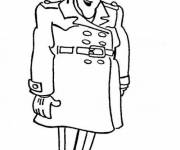 Coloring pages Inspector Gadget smiles