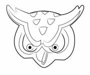 Coloring pages Invizimals dragon face