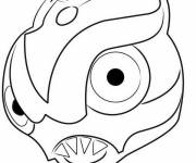 Coloring pages Invizimals Dragon head
