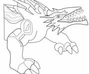 Coloring pages Invizimals Rock Dragon online