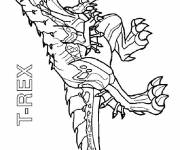 Coloring pages Invizimals T Rex cartoon
