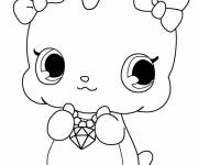 Free coloring and drawings Cute Jewelpet  Coloring page