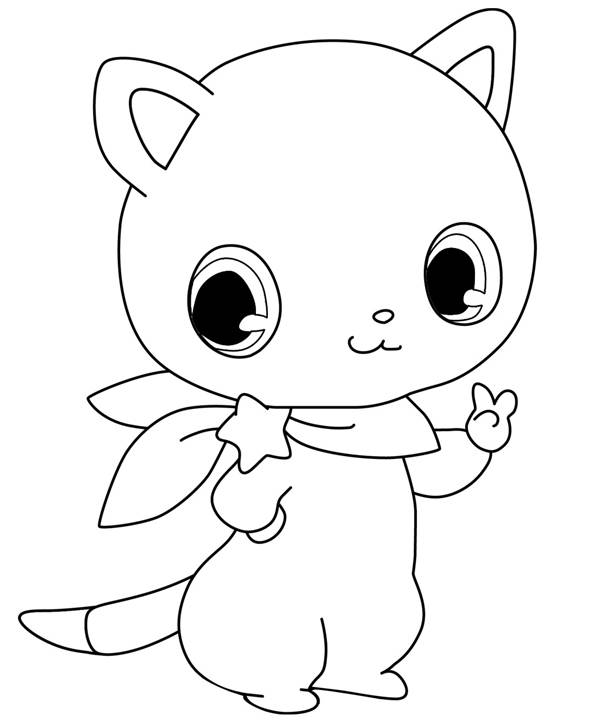 Free coloring and drawings Cute Jewelpet for girls Coloring page