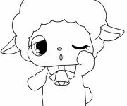 Free coloring and drawings Drawing of gorgeous Jewelpet  Coloring page