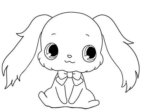 Free coloring and drawings Drawing of Jewelpet Coloring page