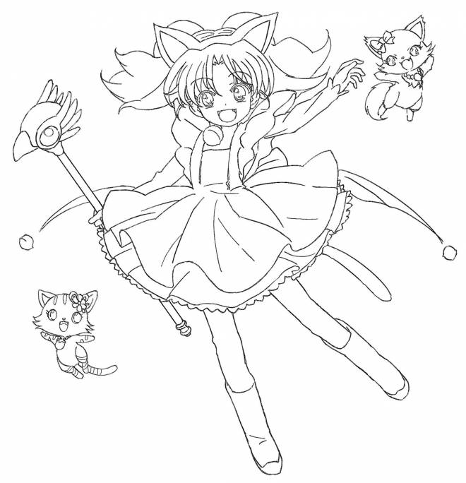 Free coloring and drawings funny Jewelpets Coloring page