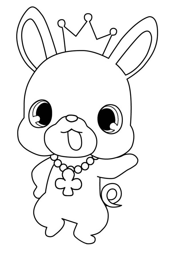 Free coloring and drawings Jewelpet anime Coloring page
