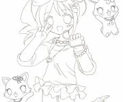 Coloring pages Jewelpet cartoon