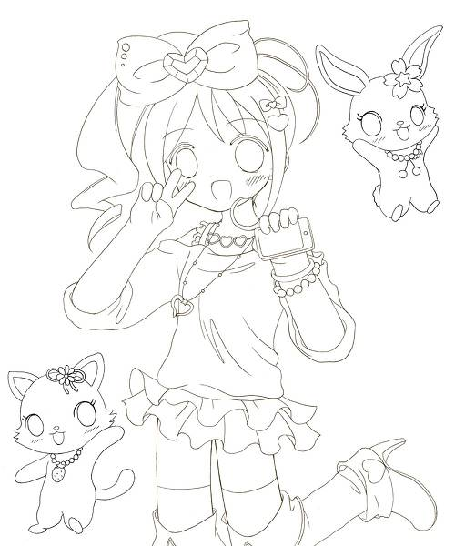 Free coloring and drawings Jewelpet cartoon Coloring page