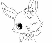 Free coloring and drawings Jewelpet cartoon for girls Coloring page