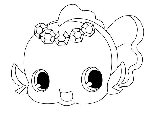 Free coloring and drawings Jewelpet coloring Coloring page