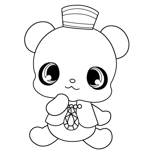 Free coloring and drawings Jewelpet Dian Coloring page