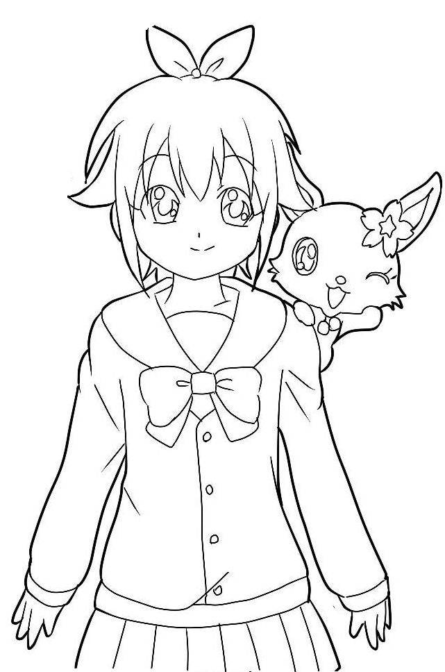Free coloring and drawings Jewelpet drawing for free Coloring page