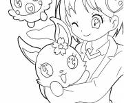 Coloring pages Jewelpet drawing to color