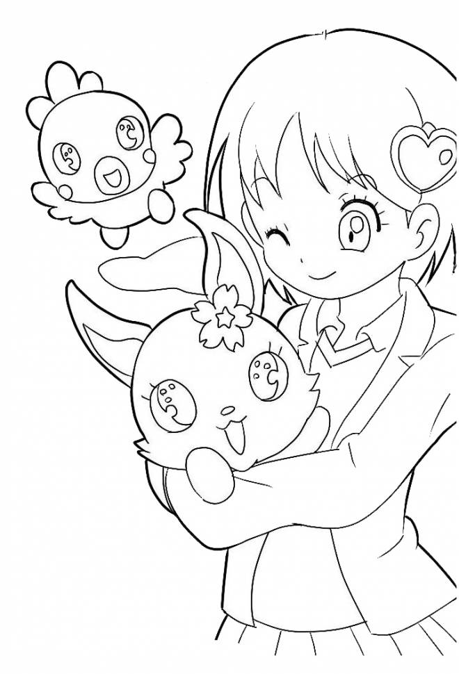 Free coloring and drawings Jewelpet drawing to color Coloring page