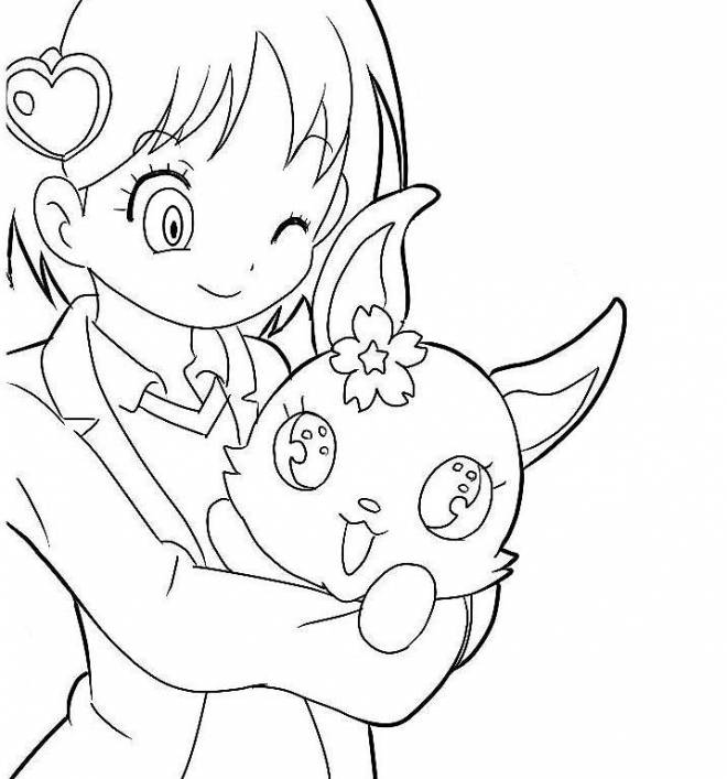 Free coloring and drawings Jewelpet for children Coloring page
