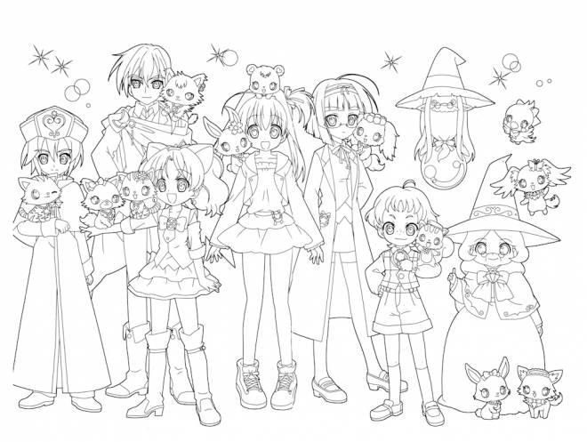 Free coloring and drawings Jewelpet for kids Coloring page