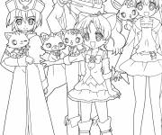 Coloring pages Jewelpet free drawing