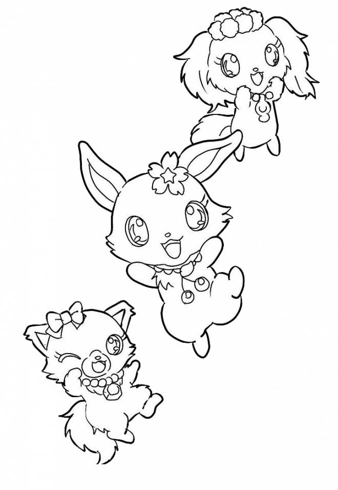 Free coloring and drawings Jewelpet gorgeous Coloring page
