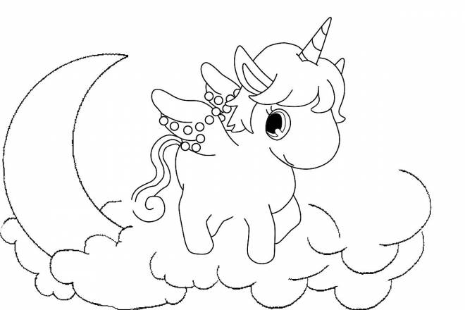 Free coloring and drawings Jewelpet in white and black Coloring page