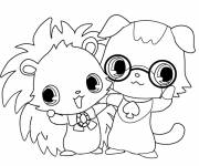 Free coloring and drawings Jewelpet Kira Coloring page