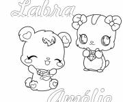 Coloring pages Jewelpet Labra