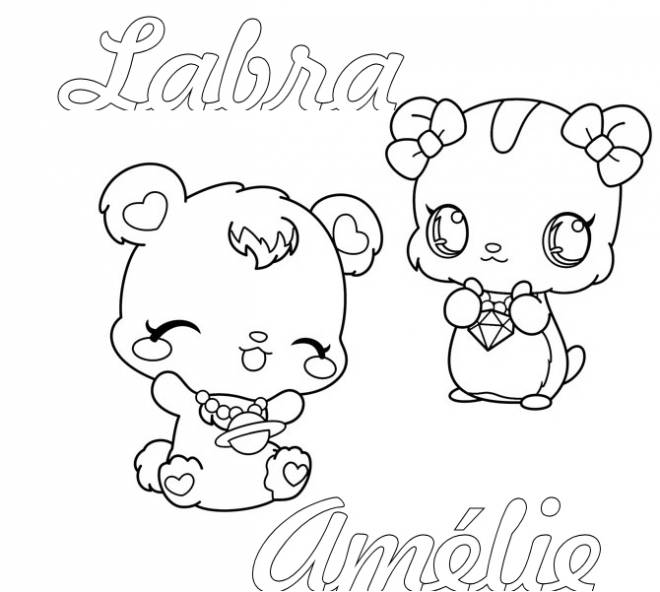 Free coloring and drawings Jewelpet Labra Coloring page