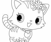 Free coloring and drawings Jewelpet Momona Coloring page