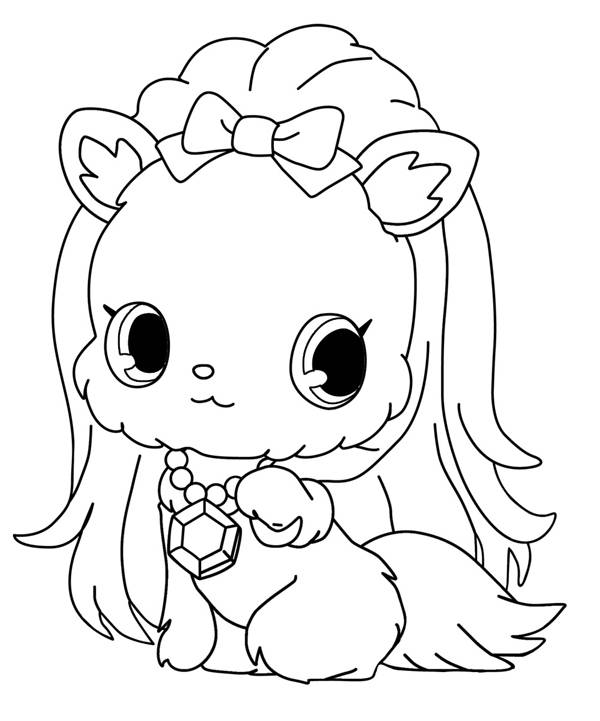 Free coloring and drawings Jewelpet online Coloring page