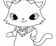 Free coloring and drawings Jewelpet printable Coloring page
