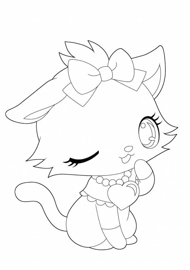Free coloring and drawings Jewelpet so cute Coloring page
