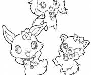 Coloring pages Jewelpet to cut