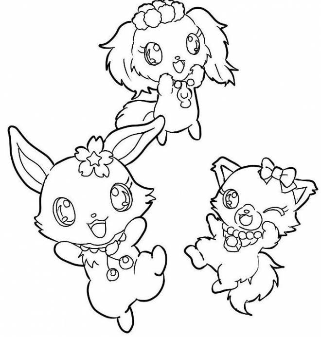 Free coloring and drawings Jewelpet to cut Coloring page