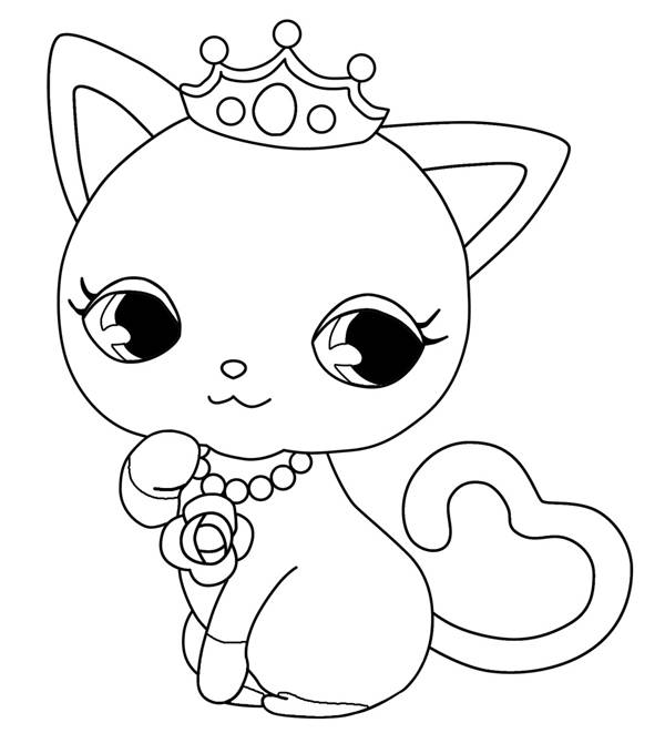 Free coloring and drawings Jewelpet to download Coloring page
