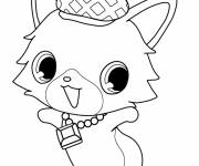 Free coloring and drawings Smiling Jewelpet to color Coloring page
