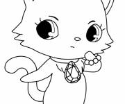 Free coloring and drawings Wonderful Jewelpet  Coloring page