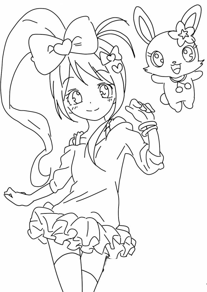 Free coloring and drawings Jewelpet to print free Coloring page