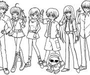 Coloring pages Kirari and his friends