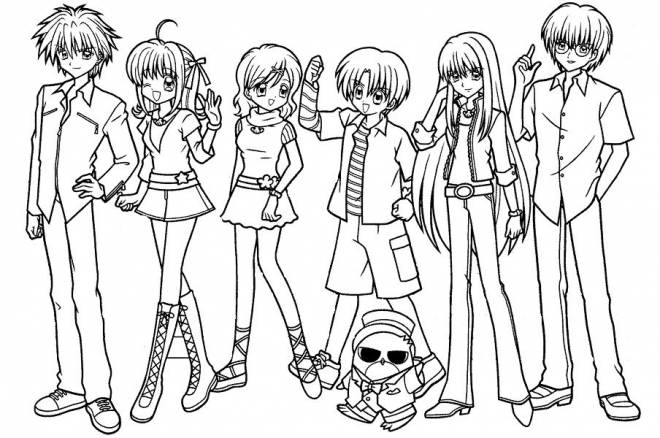 Free coloring and drawings Kirari and his friends Coloring page